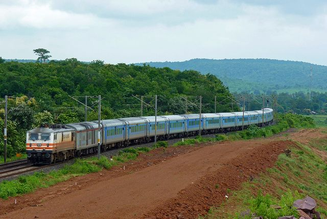 India's Fastest Train the 12002 NDLS-BPL Shatabdi Express with GZB WAP-5 # 30031 by Ujjawal