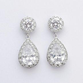 Mariage cristal boucles doreilles bijoux de par poetryjewelry