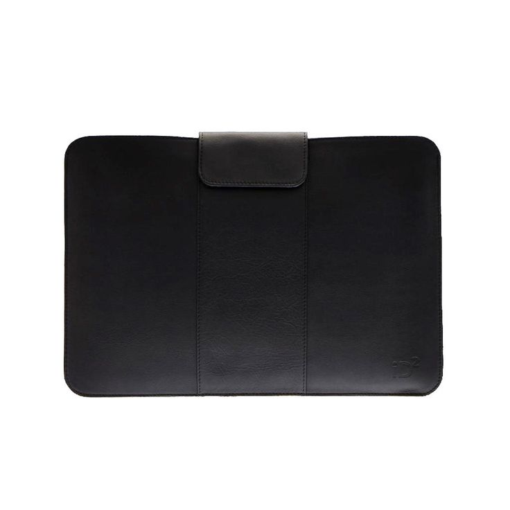 """Black Leather Case for MacBook 15"""" 