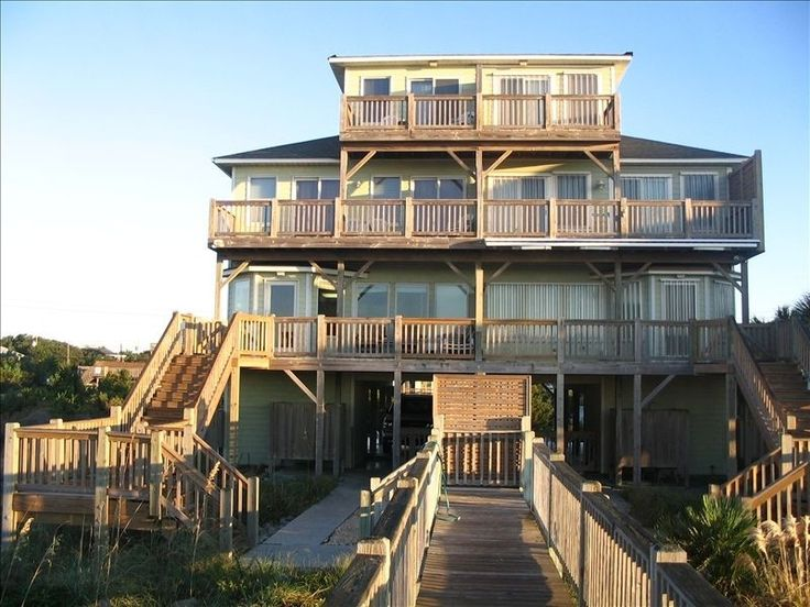 Emerald Isle Vacation Rental - VRBO 133577 - 5 BR Central Coast House in NC, Emerald Isle - Oceanfront Beauty