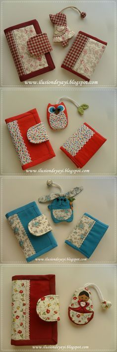 Conjuntos de cartera, llavero y libreta ♥