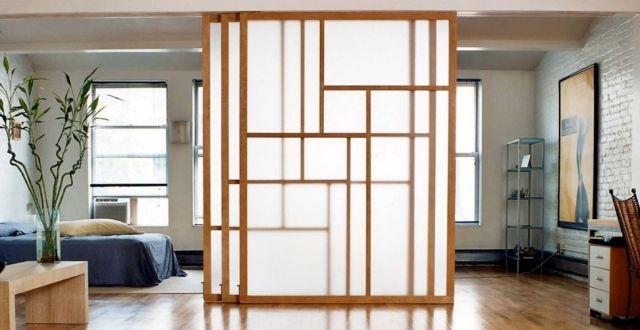 Cloison coulissante en verre ou bois pour la maison for Cloison interieur bois