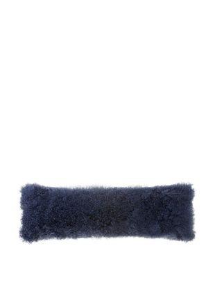 Belle Epoque Mongolian Lamb Extra Long Boudoir Pillow (Indigo)