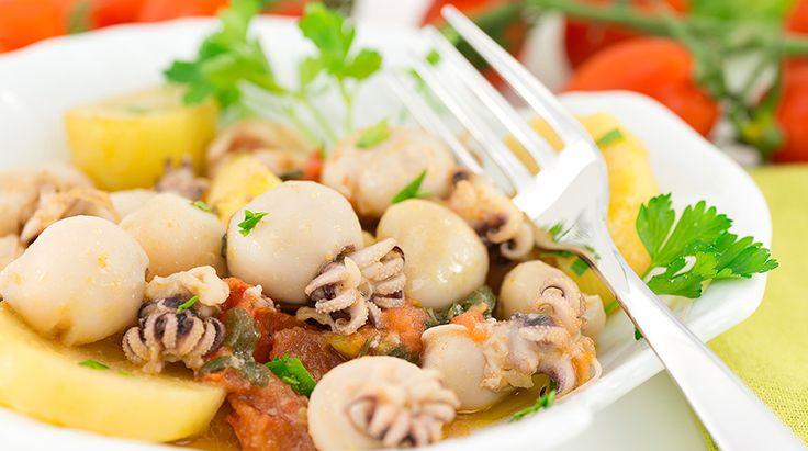 Ricetta Seppie in umido con polenta - Giornale del cibo