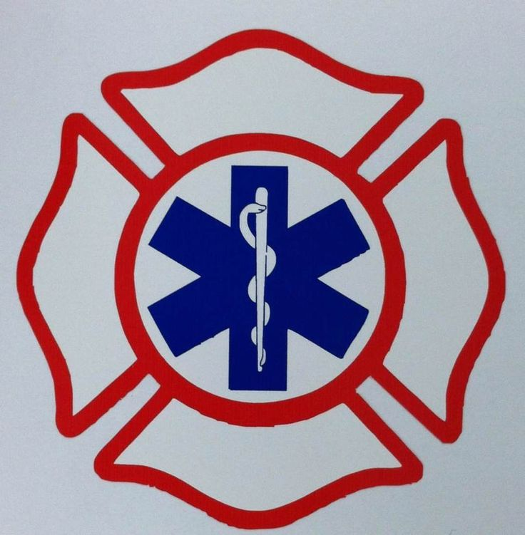 """Firefighter EMT EMS Decal, 3.75"""", Free Shipping, EMS Decal"""