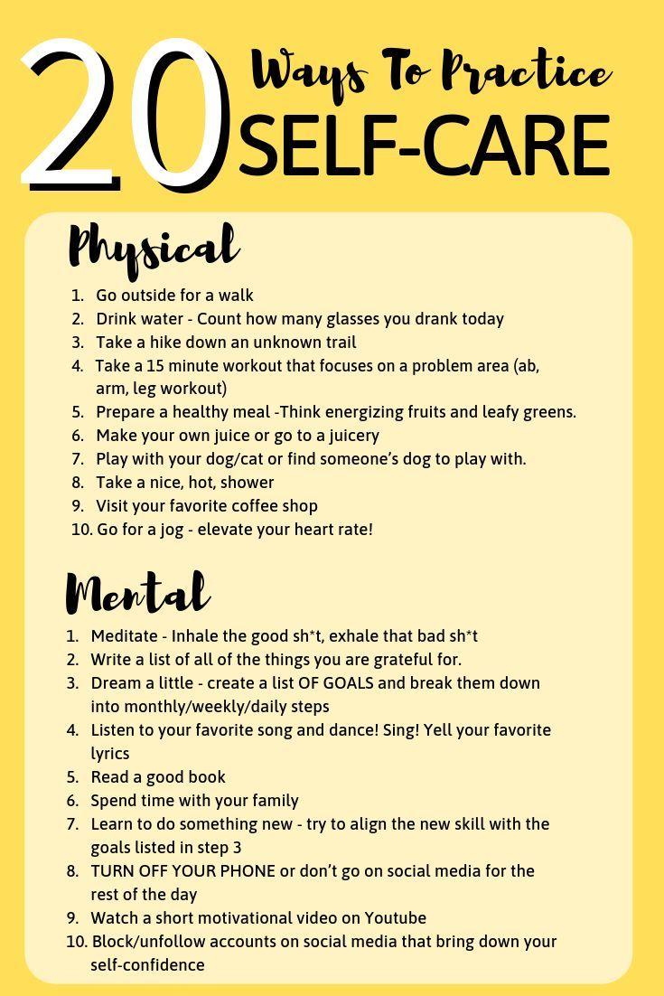 20 Möglichkeiten, sich selbst zu pflegen – Rezlerksenia