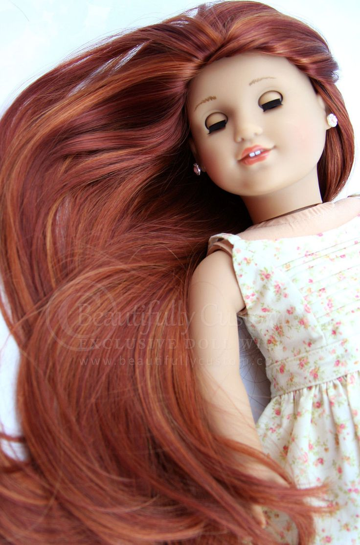 """Fox Red"" Fairytale Doll Wig for Custom American Girl Dolls Size 10 11 