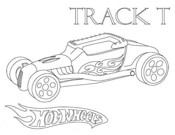 Hotwheel Track Coloring Page