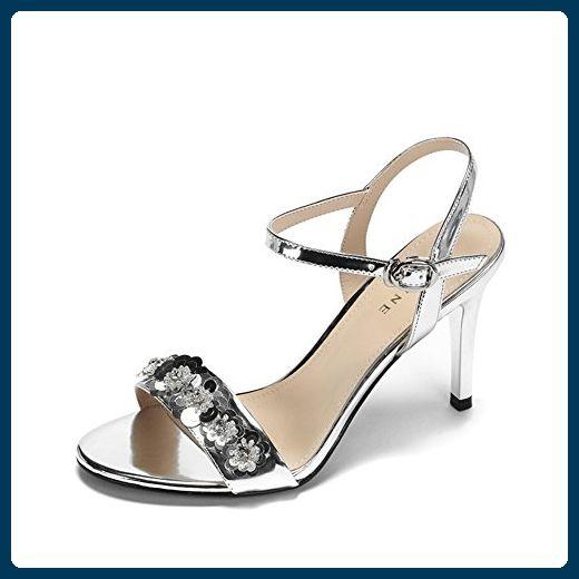 Sommer Brillen Und Heels/Mode-glitzer-A Fußlänge=23.3CM(9.2Inch) - Sandalen für frauen (*Partner-Link)