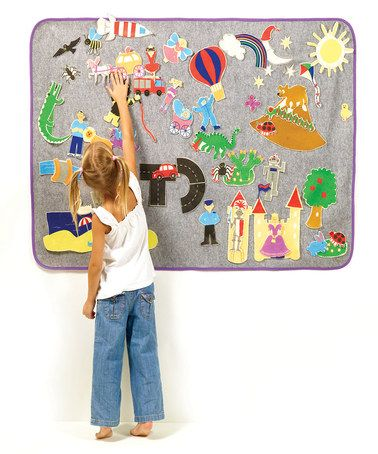 Take a look at this Create a World Felt Board by White Step on #zulily today!