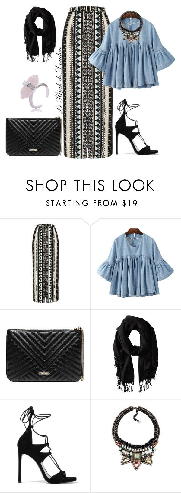 """""""Hijab Outfit"""" by le-hijab-de-doudou ❤ liked on Polyvore featuring River Island, GUESS by Marciano, Gabriella Rocha, Stuart Weitzman and Nocturne"""