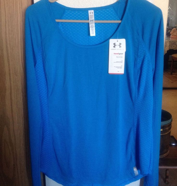 Womens Under Armour UA Fly-By Long Sleeve Shirt , size L #UnderArmour #ShirtsTops