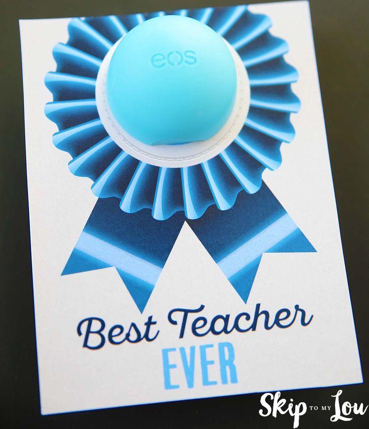 Best Teacher Ever EOS Lip Balm Gift | Skip To My Lou | Bloglovin'