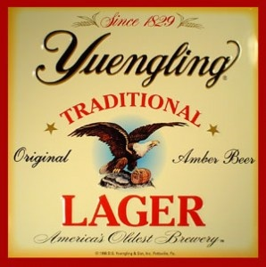 Yuengling Lager - Maybe it's supply and demand (can't get it in Texas), but I do like Yuengling. Always pick up a case when in PA or FL. Makes a GREAT brat soak!