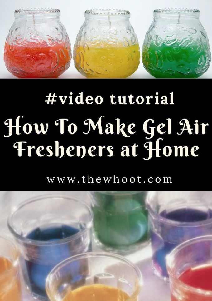 How To Make Homemade 3 Ingredient Air Freshener Gel | {Video} The WHOot