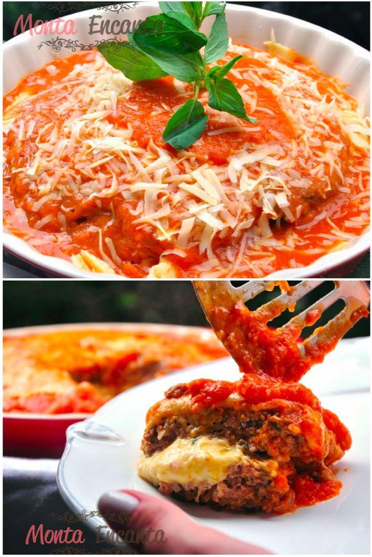 Polpetone à bolonhesa – Polpetone de carne moída temperada, com flocos de aveia, recheado de queijo muzarela, grelhado e coberto por molho de tomate frescos (Molho do Alemão) sob uma generosa…
