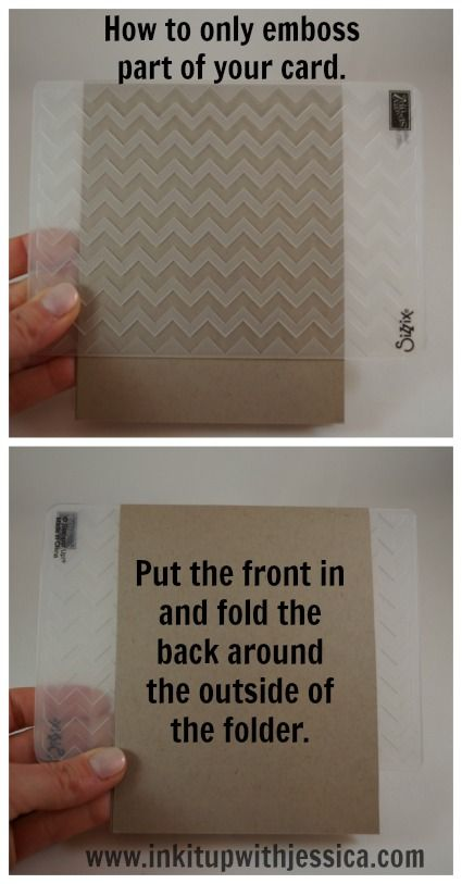 How to emboss just a part of your card front.