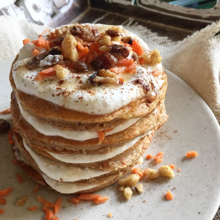 Carrot cake protein pancakes nutritious breakfast food