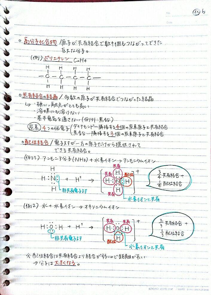 化学基礎テ対 物質の構成 化学結合 高校生 化学のノート Clear 化学結合 化学 生化学