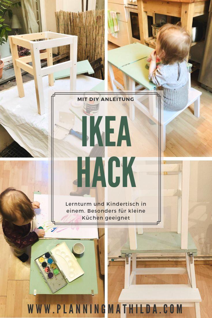 Lernturm und Kindertisch in einem - ein Ikea Hack | Lernturm ...