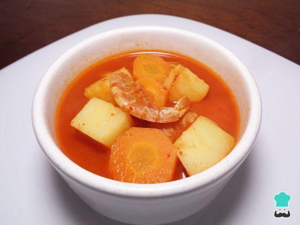 Receta de Caldo de camarón seco con verduras #RecetasGratis #RecetasMexicanas #ComidaMexicana #CocinaMexicana #Sopa #Caldo #CaldoCamarón