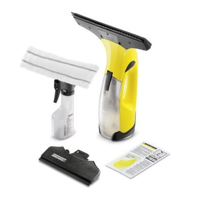 Karcher WV2 Premium Window Vacuum Cleaner The new Kärcher handheld vacuum cleaner can save you time when cleaning smooth surfaces such as windows, shower screens, mirrors, etc., without any effort as it is lightweight at only 0.6kg  The Kärcher WV 2 Premium Window Vac is 10% shorter and lighter than the original window vac but has a longer battery run time of 25 minutes, allowing you to clean up to 75m² per charge. The WV 2 Premium sucks surfaces completely dry, making it easier than ever to…