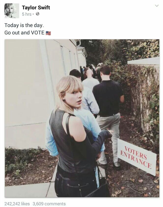 American Swifties, get out there and vote!