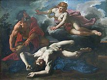 Daniel Seiter's 1685 painting of Diana over Orion's corpse, before he is placed in the heavens