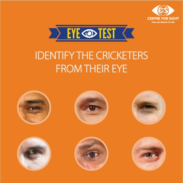 Identify the cricketers from their eye. Leave your answers in the comment section. #EyeTest #CFS