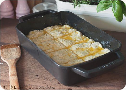 Butter Dip Buttermilk Biscuits vor dem Backen