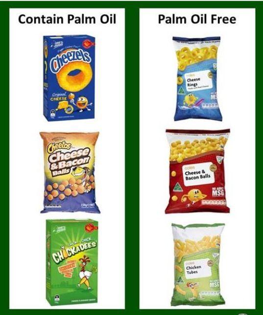 palm oil chips food bars muesli