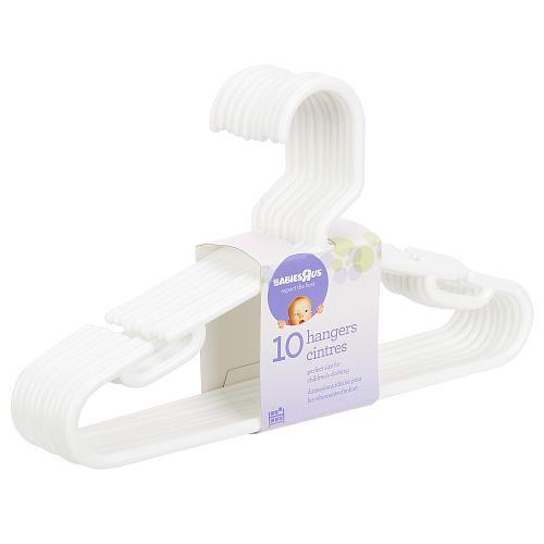 "Babies R Us 10 Pack Hangers - White - Babies R Us - Babies ""R"" Us"