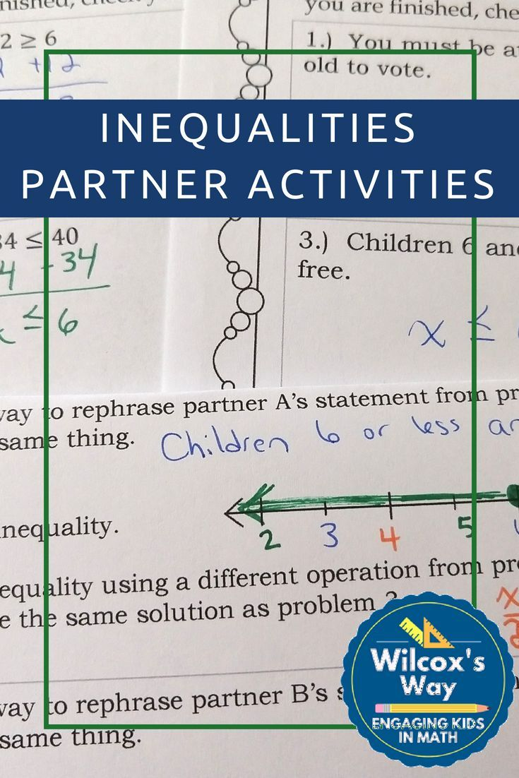 One And Two Step Inequalities Partner Activities Graphing
