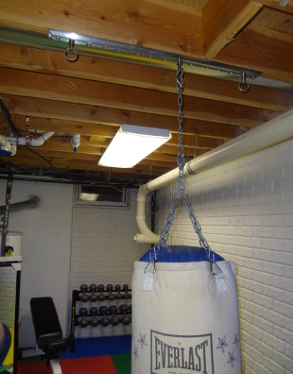 Install tuffrail heavy bag mounting application into your