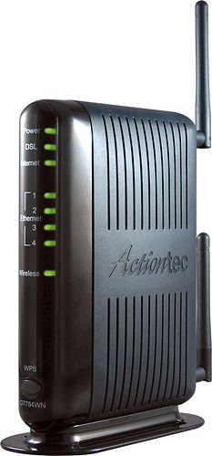 Actiontec - N300 Router with ADSL2+ Broadband DSL Modem - Black