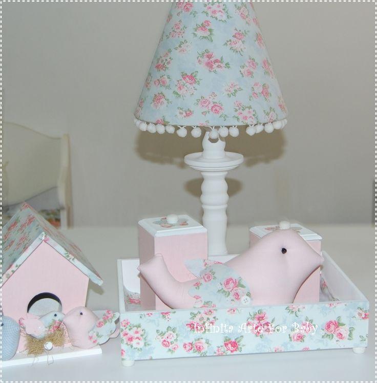 Abajur, kit higiene e casinha familia passarinhosSonho  Pinterest