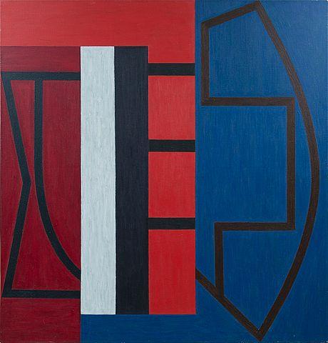 Lauri Laine: Sommitelma, 1987, öljy kankaalle, 210x200 cm - Bukowskis Contemporary F178