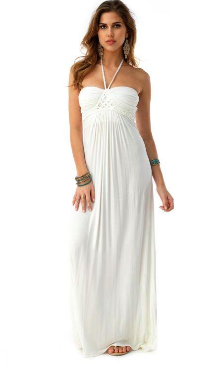 Sky white maxi dress