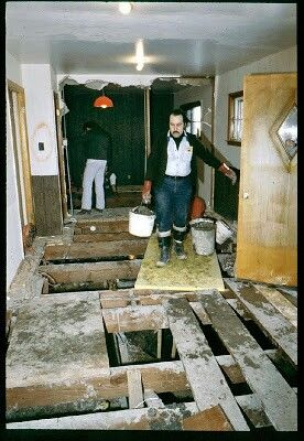 """John Wayne Gacy's house 1978 - American serial killer & rapist who sexually assaulted & murdered at least 33 teenage boys & young men between 1972 & 1978.He buried 26 of his victims in the crawl space of his home,3 others elsewhere on his property & discarded the remains of his last 4 known victims in a nearby river.He was executed in May 1994.He became known as the """"Killer Clown"""" due to his charitable services at fundraising events,parades & children parties where he'd dress as Pogo the…"""