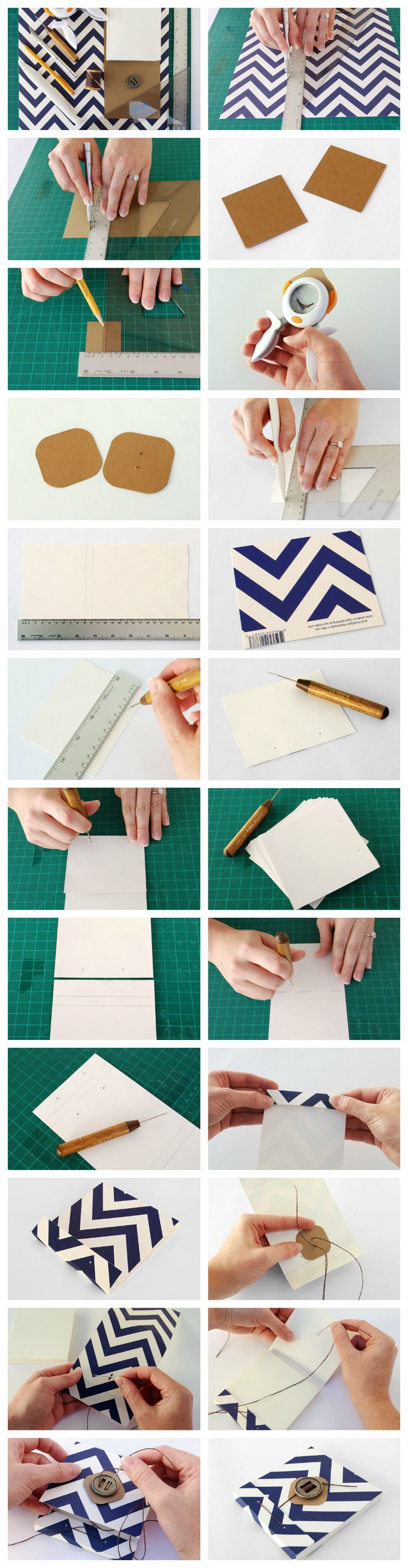 Easy bookbinding tutorial: How to make a gorgeous matchbook-style notebook via craft.tutsplus.com. #Tutorial #Craft #Bookbinding #Beginner