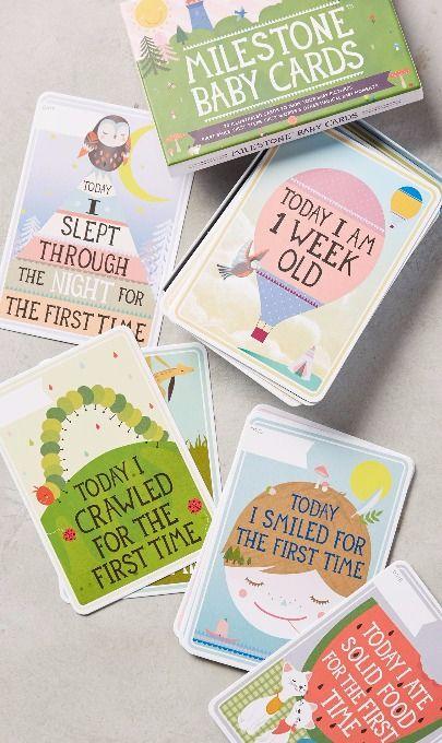Baby Milestone Cards / £13 Jojo Maman
