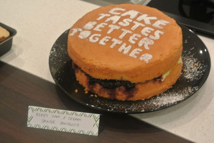 Our lovely cake! World's Biggest Coffee Morning in aid of Macmillan Cancer Support 2015 #World'sBiggestCoffeeMorning