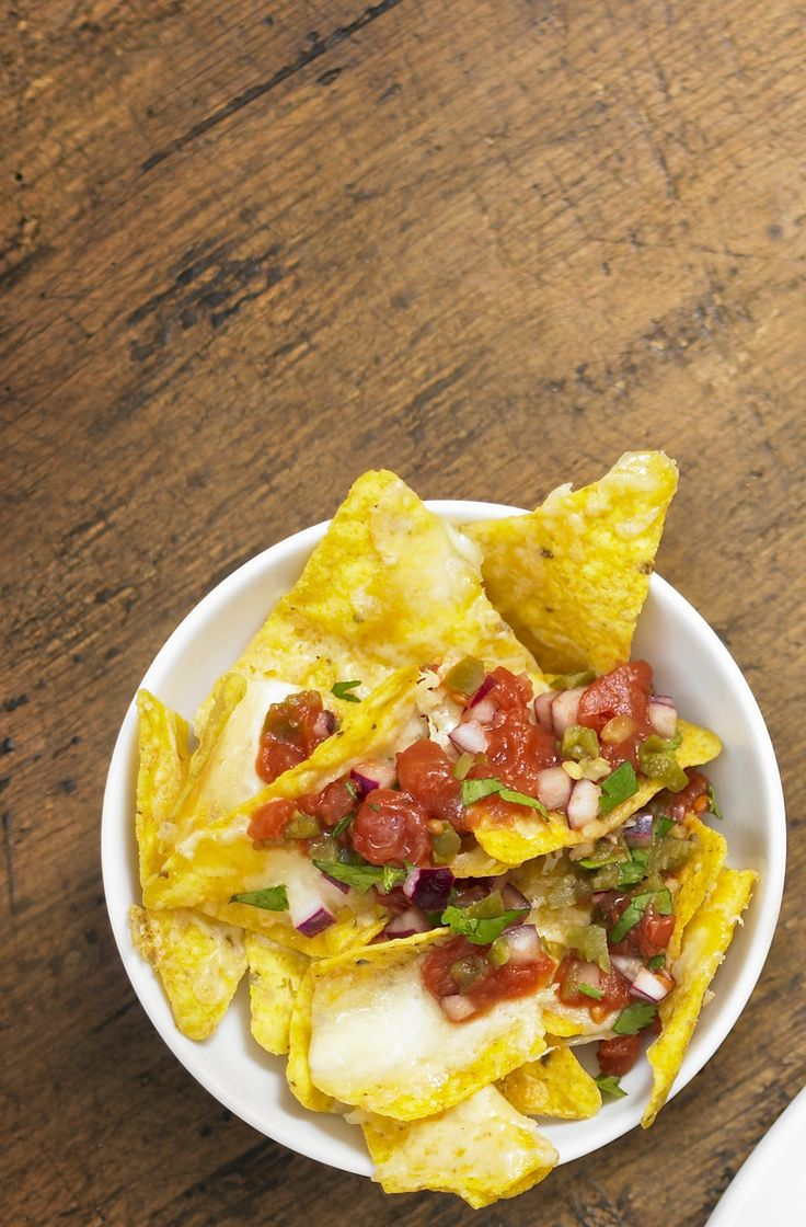 National chip and dip day: Salsa Nachos