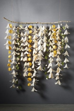 making this as a backdrop behind the head table - the flowers are just made with paper and hung upside down