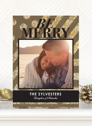 Card design: Glitzy Greeting  |  #ChristmasCardsChristmascards, Christmas Cards, Cards Ideas, Holiday Cards, Glitzy Greeting, Holiday Photos Cards, Flats Holiday, Products, Tiny Prints