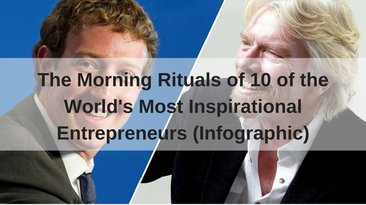 Check out the morning routines of Mark Zuckerberg, Peter Jones, Arianna Huffington and other world's most inspirational entrepreneurs http://trucrowd.is/1Kfl2n9