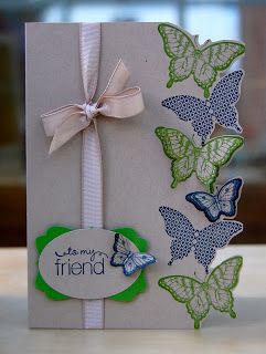 Julie's Japes - A Top Independent Stampin' Up! Demonstrator in the UK: Fancy Butterfly card