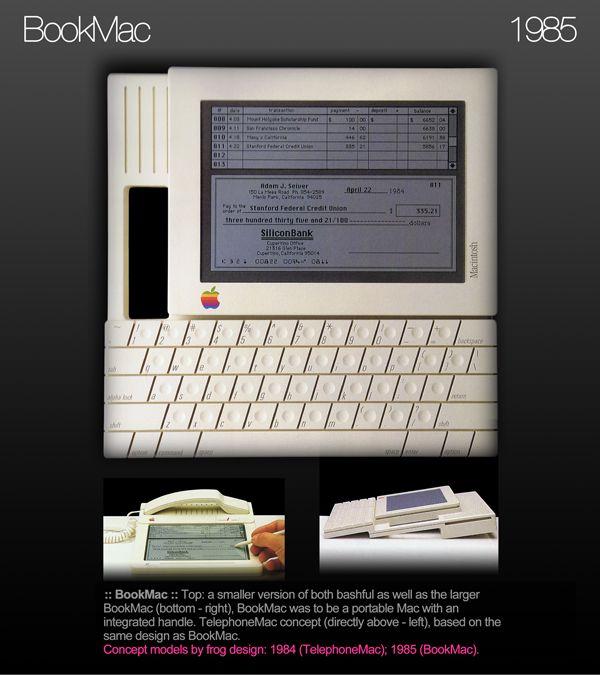 """Apple Tablet - """"BookMac"""" Frog Design 1985"""