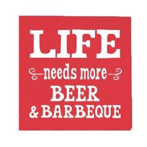 Life Needs More Beer - Beverage Napkins
