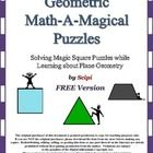 All of the pages of this 10 page FREE handout are solved like magic squares.  Number tiles are positioned so that the total of the tiles on each li...